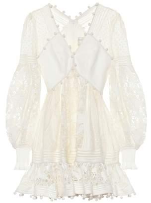 Zimmermann Corsage cotton and silk minidress