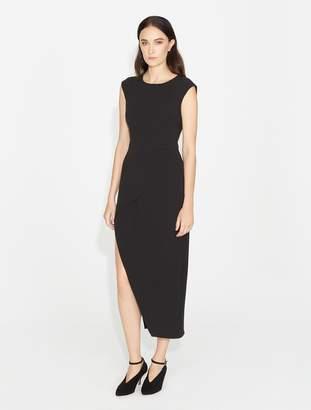Halston Hi-Lo Crepe Dress