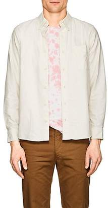 Visvim Men's Piqué Cotton Elbow-Patch Shirt - White
