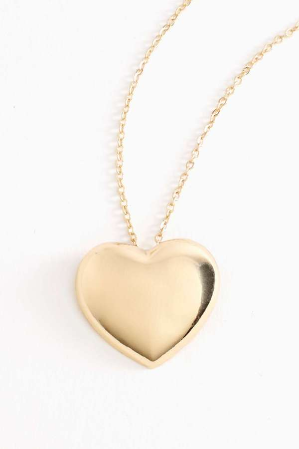 Nasty Gal Heart Of Gold Necklace