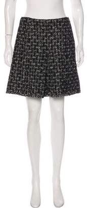 Chanel Pleated Tweed Skirt