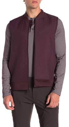 Perry Ellis Quilted Full Zip Vest
