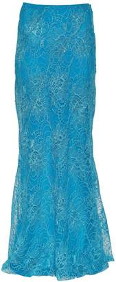Alberta Ferretti Lace Long Skirt