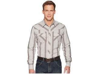 Wrangler Retro Premium Long Sleeve Snap Stripe