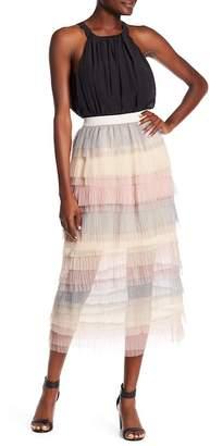 ALLISON NEW YORK Tiered Ruffle Tulle Skirt