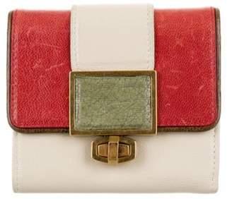 Balenciaga Leather Compact Wallet terracotta Leather Compact Wallet