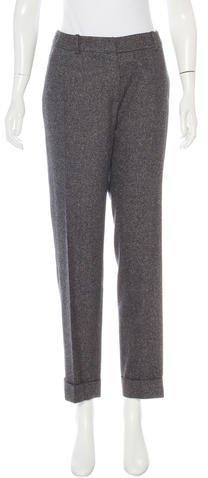Christian Dior Wool & Silk-Blend Pants