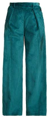 Masscob Jeanne Cotton Blend Corduroy Trousers - Womens - Blue