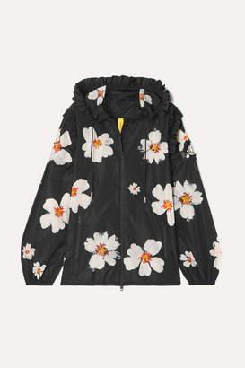 Simone Rocha Moncler Genius - 4 Appliquéd Floral-print Shell Jacket - Black