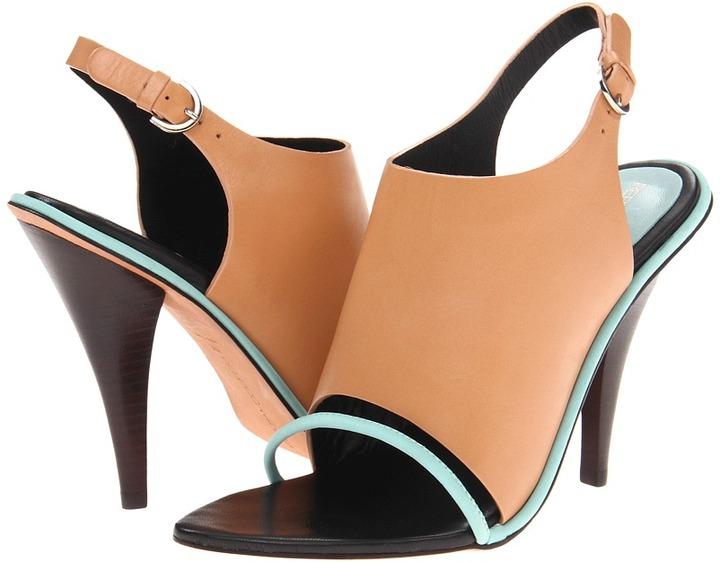 Rebecca Minkoff Barista (Cipria Calf/Minty Green Nubuck) - Footwear