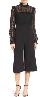 Women's Adelyn Rae Mixed Media Jumpsuit $128 thestylecure.com