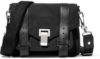 Proenza Schouler - The Ps1 Leather-trimmed Canvas Shoulder Bag - Black $980 thestylecure.com
