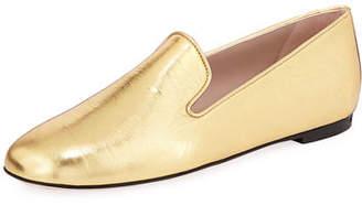 Stuart Weitzman MyGuy Metallic Flat Loafer