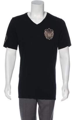 Chrome Hearts Short Sleeve V-Neck T-Shirt