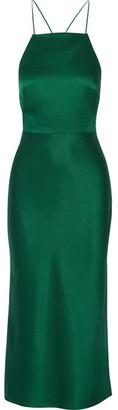 Jason Wu - Satin-crepe Midi Dress - Emerald $1,495 thestylecure.com