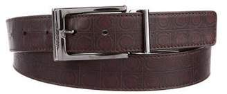 Salvatore Ferragamo Gancio Embossed Belt
