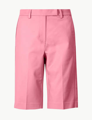 M&S CollectionMarks and Spencer Cotton Rich Tailored Shorts