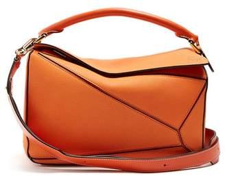 Loewe Puzzle Grained Leather Bag - Womens - Orange