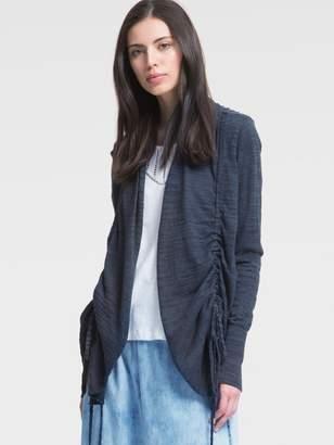 DKNY Slub Open-Front Cardigan With Side Ties