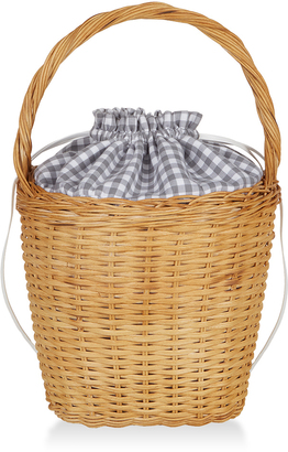 Edie Parker Lily Gingham Basket Tote $995 thestylecure.com
