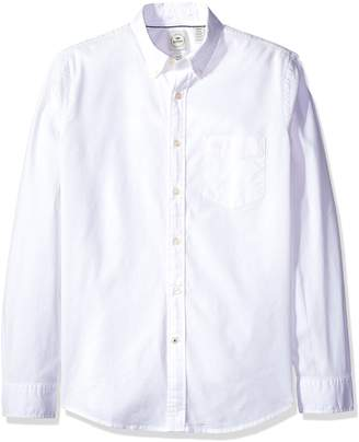 Dockers Long Sleeve Texture Dobby Button Front Woven Shirt