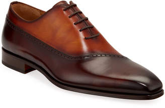 Magnanni Men's Sydney Tow-Tone Leather Oxfords