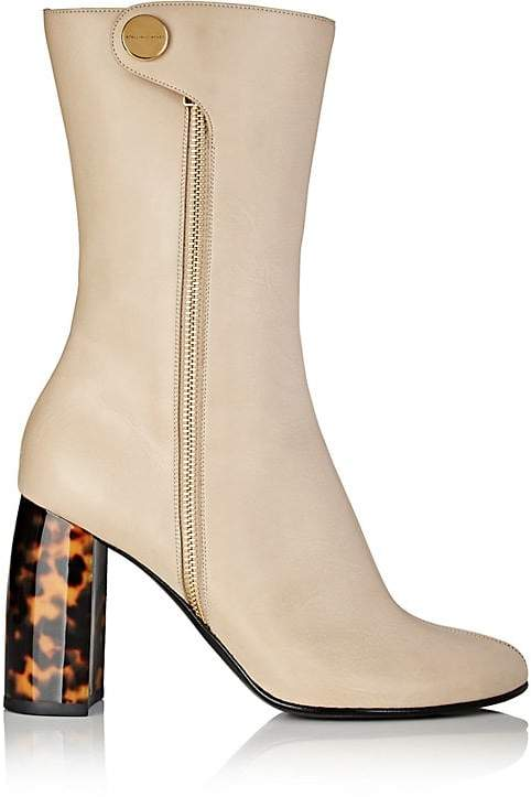Stella McCartney Women's Tortoiseshell-Heel Faux-Leather Boots