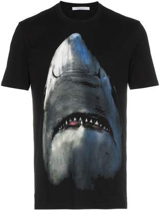 Givenchy shark print cotton short sleeve t shirt