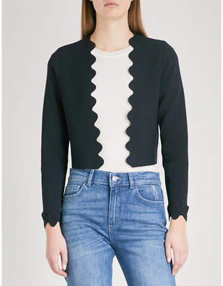 Claudie Pierlot Scalloped jersey cardigan