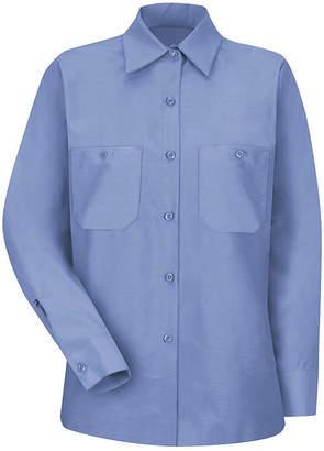 Red Kap Womens Industrial Long-Sleeve Work Shirt