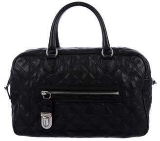 Marc Jacobs Quilted Leather Satchel Black Quilted Leather Satchel