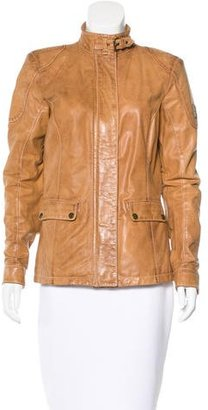 Belstaff Leather Distressed Jacket $320 thestylecure.com