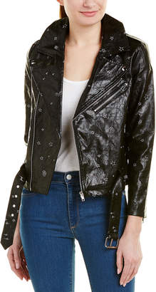 Wild Honey Embroidered Motorcycle Jacket