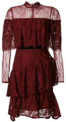 Perseverance London tiered ruffled lace dress