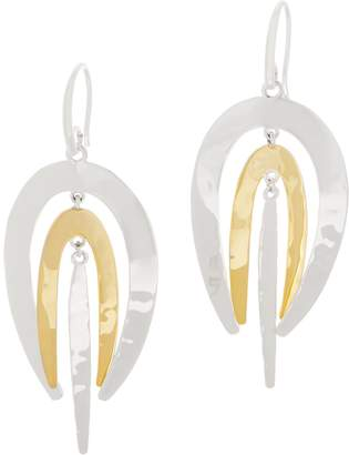 Robert Lee Morris Rlm Jewelry By RLM Bronze Two-Tone Layer Drop Earrings