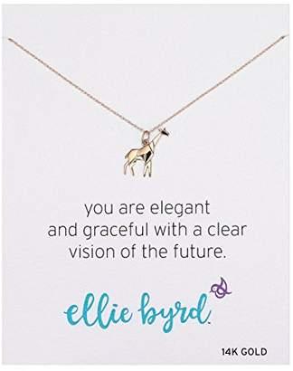 ellie byrd 14k Gold Giraffe Pendant Necklace