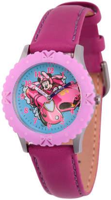 DISNEY MINNIE MOUSE Disney Minnie Mouse Girls Purple Strap Watch-Wds000183