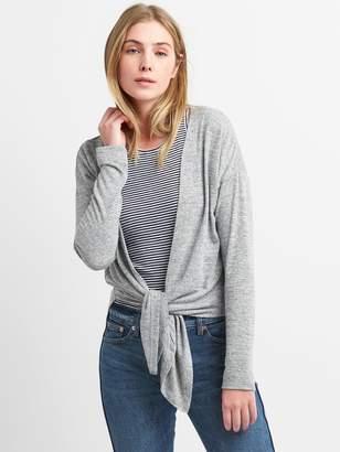 Gap Softspun Tie-Front Cardigan Sweater