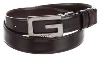 Gucci G Thin Leather Belt