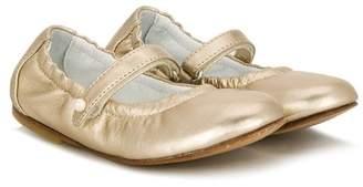 Lanvin Enfant metallic touch-strap ballerinas