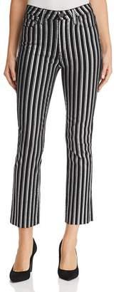 Paige Colette Crop Flare Jeans in Silver Stripe