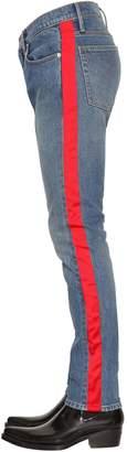 Calvin Klein Jeans Slim Fit Cotton Denim Trousers W/ Tape