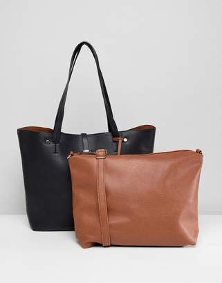 Oasis shopper bag with removable pouch