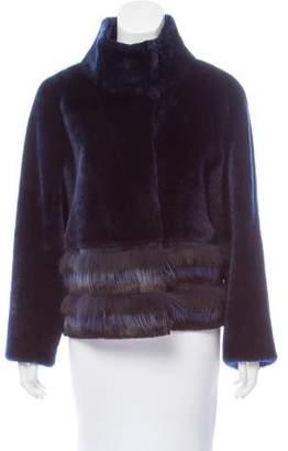 Tory Burch Shearling & Fur-Trimmed Jacket