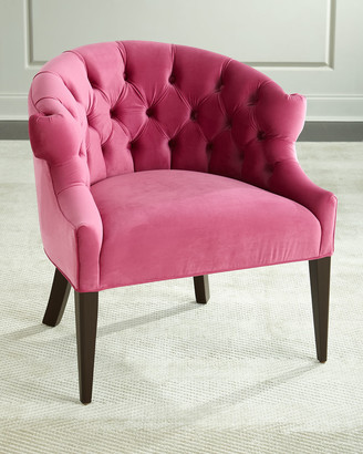 Melina Tufted-Back Chair, Pink