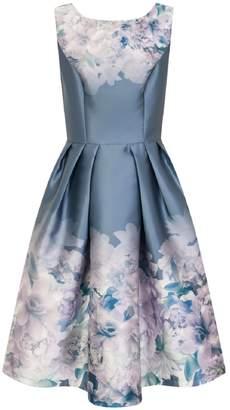 Dorothy Perkins Womens *Chi Chi London Blue Floral Print Midi Skater Dress