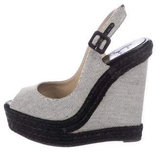 1301ec7e809 Christian Louboutin Woven Wedge Women s Sandals - ShopStyle