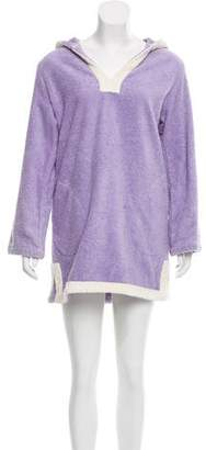 Lisa Marie Fernandez Hooded Terry Cloth Cover-Up