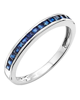 ee22a1a78 Fashion World 9 Carat White Gold Sapphire Band Ring