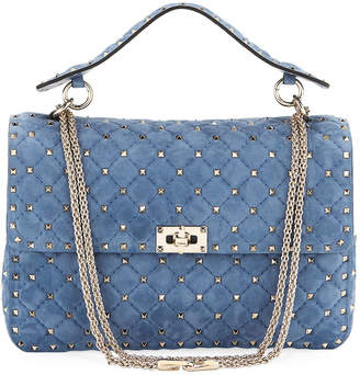Valentino Rockstud Spike Large Chain Bag, Bright Blue